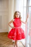 Детское нарядное платье Рози, цвет коралловый