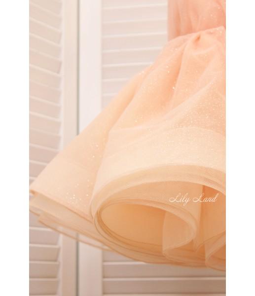Детское нарядное платье Селена, цвет персик