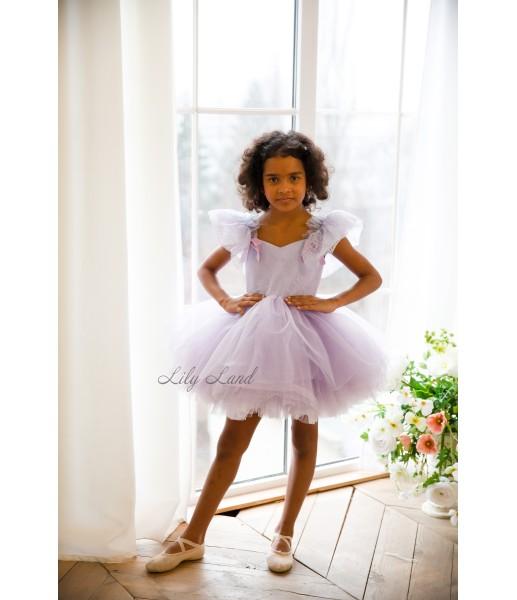 Детское нарядное платье Шанти, цвет лаванда
