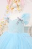 Детское нарядное платье Шанти, цвет тиффани