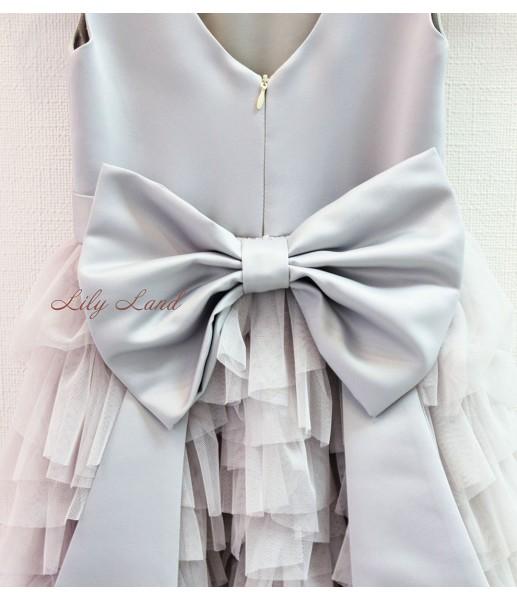 Детское платье Урсула, цвет серый и дымчато серый