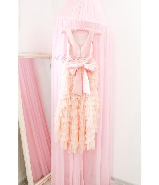 Детское платье Урсула, цвет персик