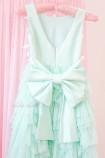 Детское платье Урсула, цвет мята с бабочками