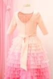 Детское платье Урсула с рукавом, цвет розовый с градиентом