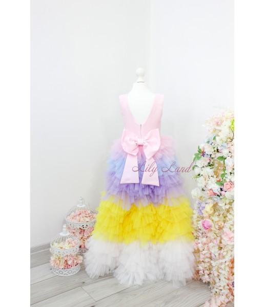 Детское платье Урсула, с радужной юбкой