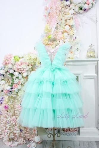 Детское нарядное платье Вероника, цвет мята