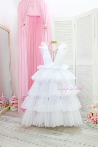 Детское нарядное платье Вероника, цвет белый