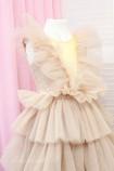 Детское нарядное платье Вероника, цвет бледная пудра