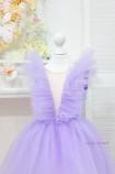 Детское нарядное платье Вероника со шлейфом, цвет лаванда