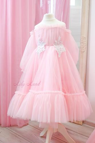 Детское нарядное плать Вирджиния, цвет розовый