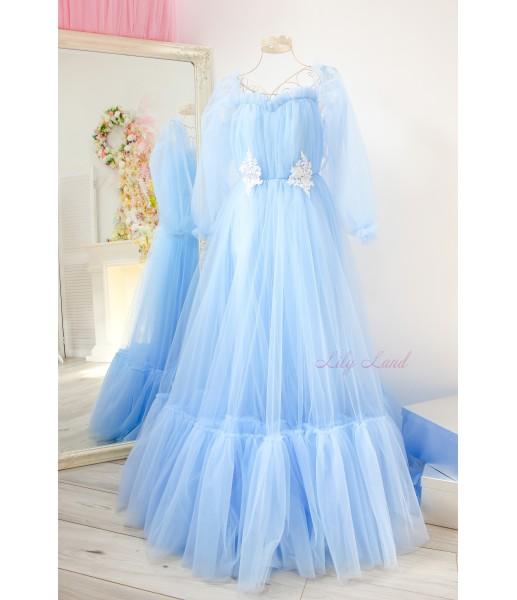Детское нарядное плать Вирджиния, цвет голубой