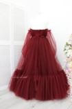 Детское нарядное плать Вирджиния, цвет Бордо