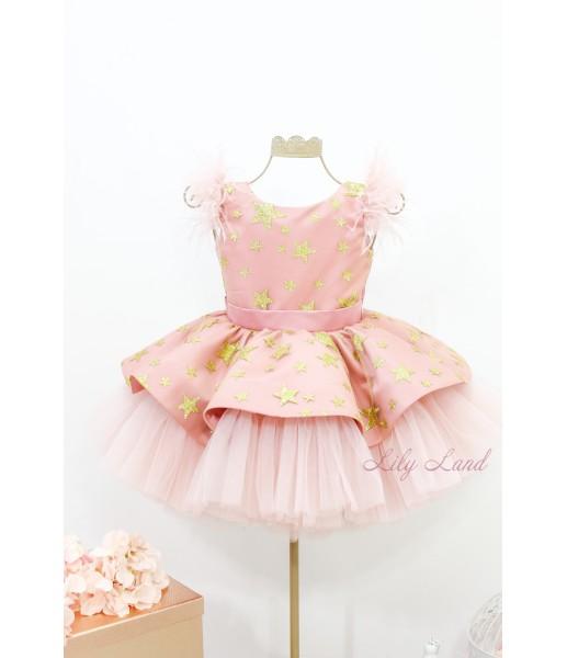 Детское нарядное платье Звезда, цвет чайная роза