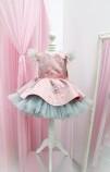 Детское нарядное платье Звезда, цвет чайная роза с серебром