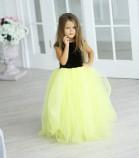 Платье Ангельское сердце, цвет коричневый и желтый