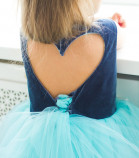 Платье Ангельское сердце, цвет серый и голубой