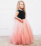 Платье Ангельское сердце, цвет малахит и персик
