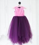 Платье Ангельское сердце, цвет баклажан и розовый