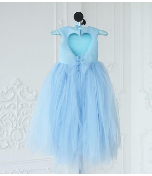 Платье Ангельское сердце, цвет голубой