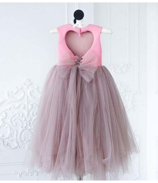 Платье Ангельское сердце, цвет розовый и шампань