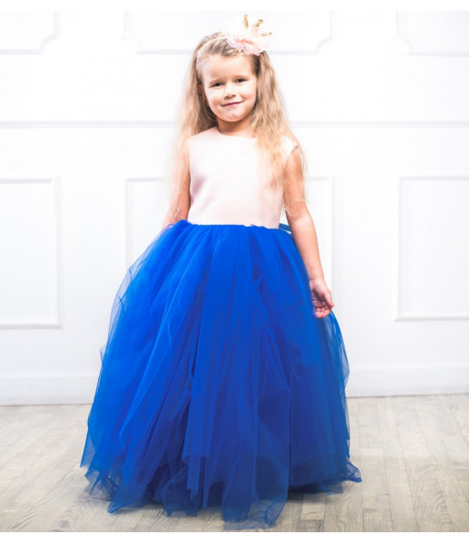 Платье Ангельское сердце, цвет электрик и розовый
