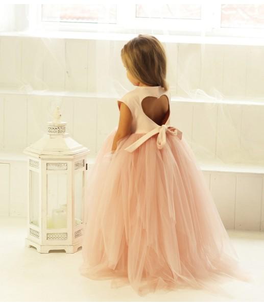 Платье Ангельское сердце, цвет пудра