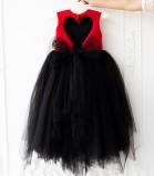 Платье Ангельское сердце, цвет черный и красный