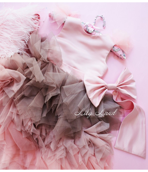 Детское платье Аваланж, цвет нежно розовый