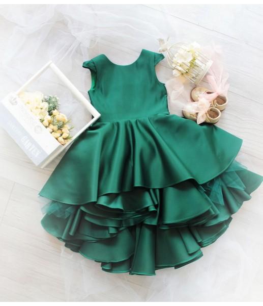 Детское платье Аврора, цвет малахит