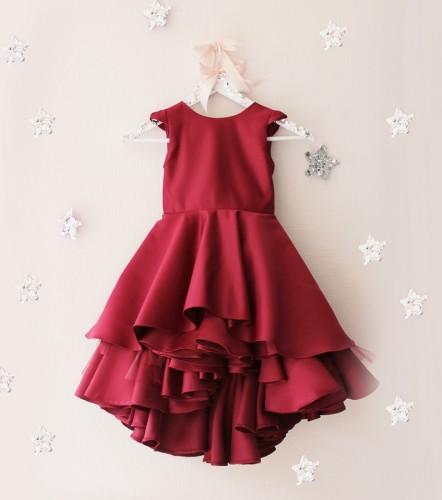 Детское платье Аврора, цвет бордо