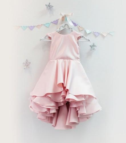 Детское платье Аврора, цвет розовая пудра