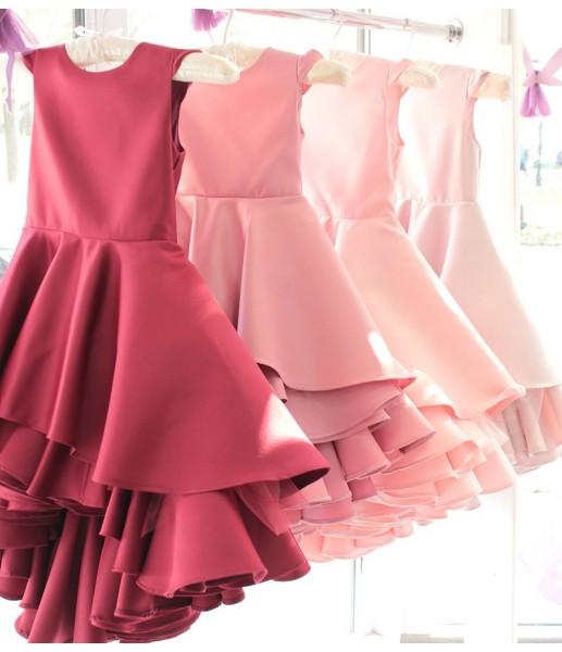 Детское платье Аврора, цвет воронье крыло