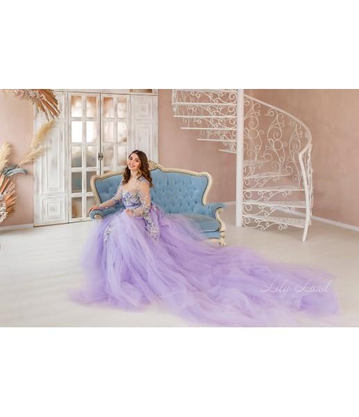 Женское платье для беременных, цвет лаванда