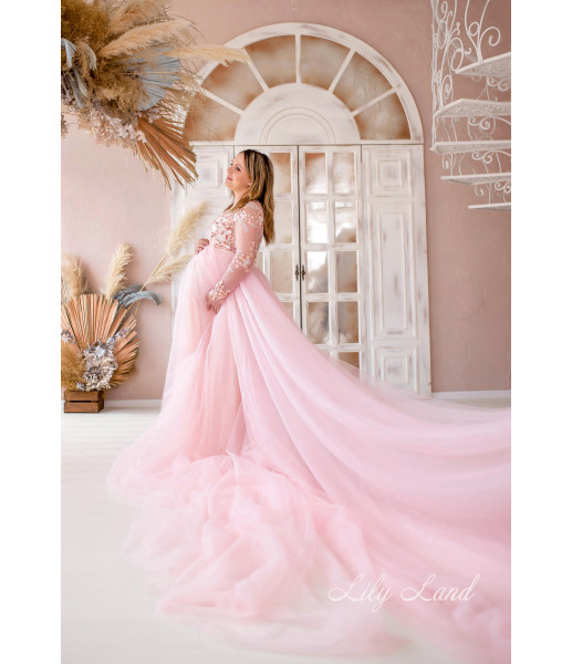 Женское платье для беременных, цвет розовый