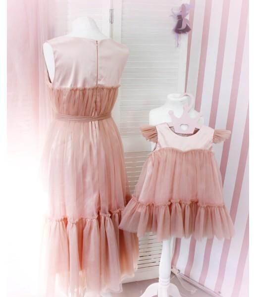 Комплект платьев Белль тауп