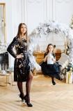 Комплект нарядных  платьев Нинель из двухсторонней пайетки