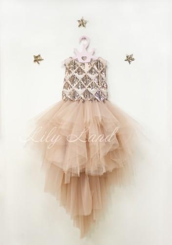 Детское платье Доминика, цвет пудра