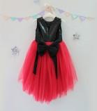 Детское платье Фатиновый рай, цвет черный и красный