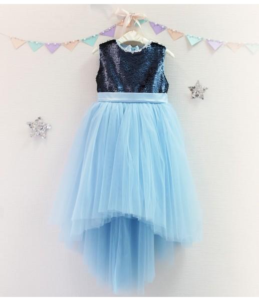 Детское платье Фатиновый рай, цвет синий и голубой