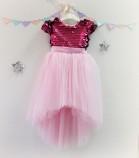 Детское платье Фатиновый рай, цвет малина и розовый