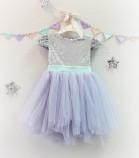 Детское платье Фатиновый рай, цвет лаванда и серебро