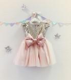 Детское платье Фатиновый рай, цвет золото и персик