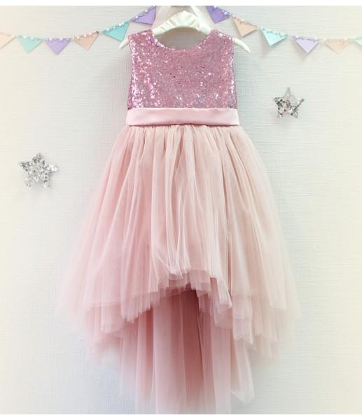 Детское платье Фатиновый рай, цвет розовый и пудра