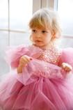 Детское нарядное платье, цвет чайная роза с пайеткой
