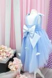Детское платье Флер,топ открытый на плечах бретельки из евро фатина цвет голубой