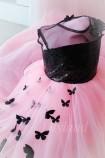 Детское платье Флер,топ черная пайетка розовый евро фатин