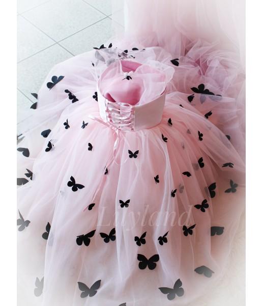 Детское платье Флер,топ розовый атлас розовый евро фатин