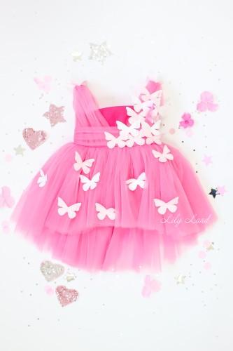 Детское платье Флер, в цвете Барби