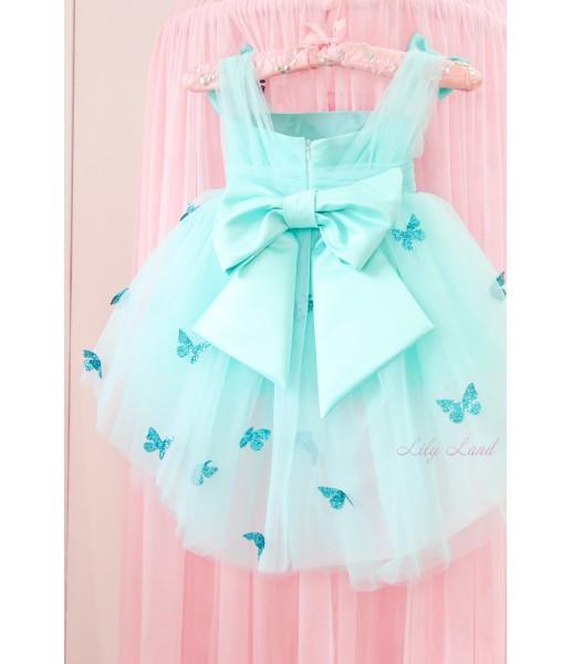 Детское платье Флер, в цвете Тиффани