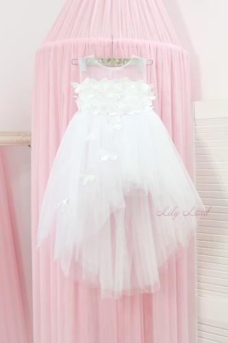 Детское платье Флер, в белом цвете